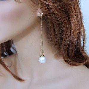 Large Pearl Drop Earrings